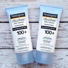 2 Pack Neutrogena Ultra Sheer Dry-Touch Sunscreen SPF 100+ 3 Oz New Exp 03/22