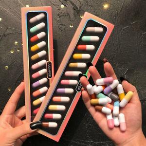 12 Colors Lipstick Set Mini Capsule Lipstick Matte Waterproof Non-stick Lasting