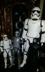 """Star Wars Action Figure 31"""" Stormtrooper 20"""" grey 18"""" white 17"""" 4 total"""