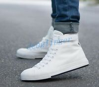 Fashion Men New High Top Running Sport Shoes  Fashion Sneakers Canvas Shoes