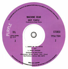 Deep Purple - Machine Head record label vinyl sticker.