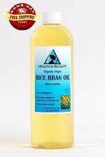 RICE BRAN OIL UNREFINED ORGANIC CARRIER COLD PRESSED VIRGIN RAW PURE 16 OZ