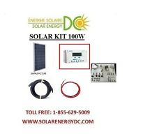 Solar Panel KIT Panneau Solaire 100 Watt 100W 30A Poly LCD charger z bracket rvs