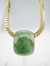 Genuine Natural Translucent Green Jade Pendant Barrel Bead #G108
