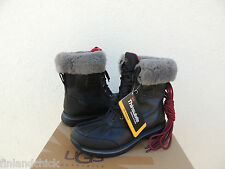 UGG BLACK RUDYARD WATER-PROOF LEATHER THINSULATE SNOW  BOOTS, US 7.5/ EUR 40 NIB
