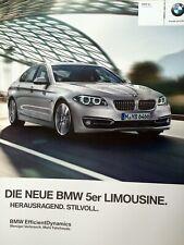 Prospekt Brochure BMW F10 5er Limousine 520i-535i 550i 518d-M550d xDrive 1 2014