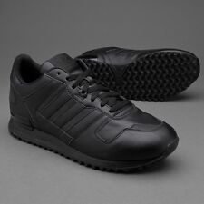 Men's Adidas Originals ZX 700 All Black Shoes Sneakers S80528 Size 11 NEW W BOX