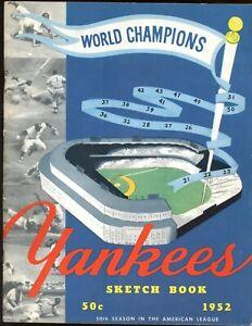 1952 New York Yankees Yearbook EX+