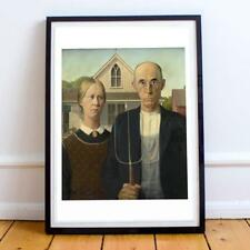 American Gothic oil painting Grant Wood 1930 repro print CHOICES 5x7 or request