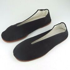 Men's Casual Slip On Cotton V Shoes Kung Fu Martial Arts Black Sizes 41 - 48 New