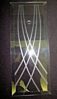 """Rectangle Beveled Glass Panel 6 Bend Curved Lines Chandelier Lamp Part 8-11/16"""""""