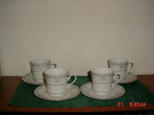 "8-PC DYNASTY FINE CHINA ""COLEEN"" COFFEE CUPS & SAUCERS/STAMPED/FREE SHIPPING!"