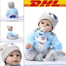 55cm Reborn Baby Puppe Handgefertigt Weich Silikon-Vinyl Junge Rebornpuppen DHL