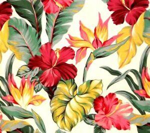 Hawaiian 100% Cotton Barkcloth Fabric Pillow SLIPCOVER ~Pau Hanna~