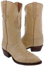 Mens Sand Genuine Crocodile Exotic Rodeo Dark Leather Hornback Cowboy Boots