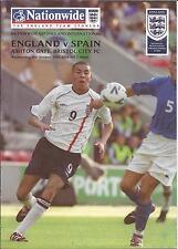 Football Programme - England v Spain - U17 International Friendly - 2001