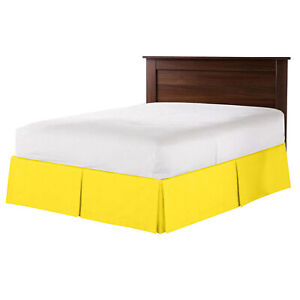 """550 TC 100% Egyptian Cotton Bedding 1X Bed Skirt 12"""" Inch Drop King Yellow Solid"""