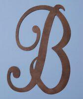 B Large Rustic Metal Monogram Letter Front Door Porch Patio Wall Art Home Decor