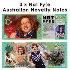 Nat Fyfe - One Hundred Dollar Novelty Money Note
