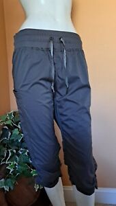 Kyodan Ruched Dance Yoga Athletic Travel Active Cropped Pants Women's Size L