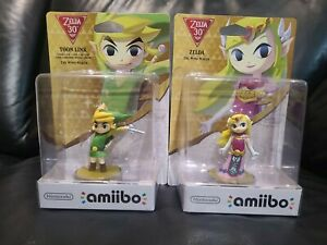 Nintendo Amiibo Character Toon Link and Zelda The Wind Waker for WiiU 3ds Switch