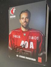 67890 Etienne Froidevaux hockey sur glace Original signé Autographe Carte