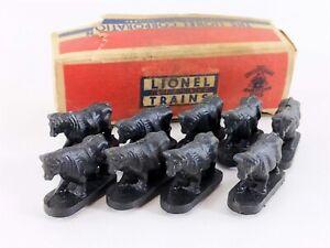 Lionel Postwar 3656-9 Cattle Car Figures in Original Box O & O27 Gauge