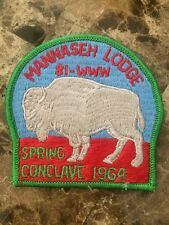 OA Lodge 81 Mannaseh Merged 1964 Spring Conclave WWW BSA Rare Patch IL