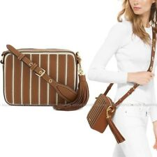 NWT❤️ Michael Kors Brooklyn Applique Leather Large Camera Crossbody Acorn Brown