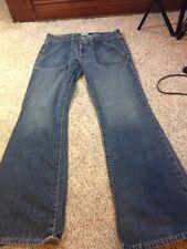 Halogen Denim Size 10 Jeans Blue Solid Cotton Straight Leg Pockets medium wash
