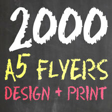 2000 A5 SINGLE SIDED FLYERS/LEAFLETS *inc. FREE CUSTOM DESIGN SERVICE*