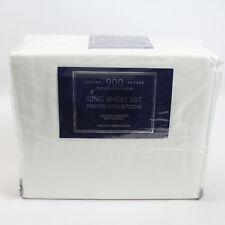 Aq Textiles Bedding Devon Collection 900 Thread Count King Sheet Set White G836