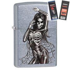 Zippo 29403 Dancing Skeleton Street Lighter with *FLINT & WICK GIFT SET*