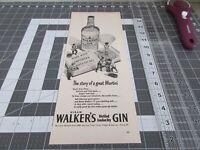 1949 Hiram Walker's Gin Print Ad, Story of a great Martini
