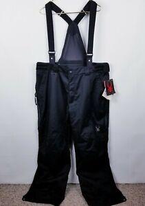 Spyder NWT Men's Dare Pant Dermizax Snow Bib XXLarge XXL Black