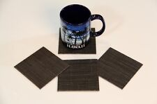 CHILEWICH BAMBOO CHOCOLATE (Non Skid Moisture Proof) Set of 4 Coasters