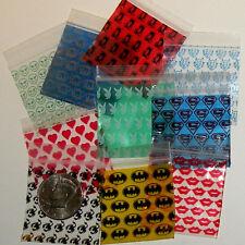 100 Mixed Designs Apple Baggies 2 x 2 in  ziplock bags reclosable plastic 2020