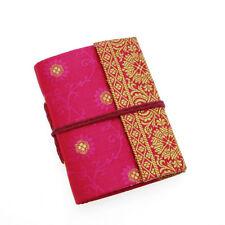 Fair Trade Handmade Mini Sari Fabric Notebook Diary Single Bound Cerise