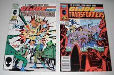 GI Joe + Transformers....4 comic books...nice VF grade--A....1987