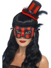 halloween LOT MASQUE YEUX chapeau burlesque Ensemble 2 pièces noir rouge