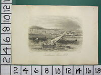 C1860 Piccolo Antico Eastbourne Stampa ~ Vista Di Eastbourne Pier