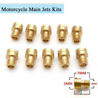 10 Pcs 4MM M4 Motorcycle Carburetor Main Jets Kit 82-105 Round Head New