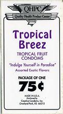 vtg condom machine decal sticker vending NOS Tropical Breez fruit flavored 75 c