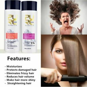 Straightening Hair Repair Brazilian Keratin  Treatment Purifying Shampoo~.