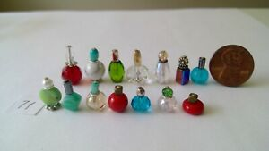 Dollhouse miniature perfume bottles  lot 71