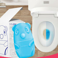 Cute Blue Bear Toilet Cleaner Magic Automatic Flush Toilet Cleaner 65 Days Us~S3