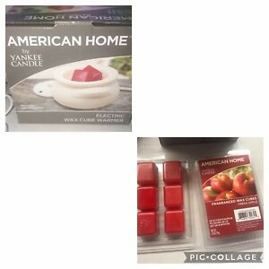 American Home by Yankee Candle Electric Wax Cube Warmer + 12 Apple wax melts NIB