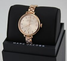 NEW AUTHENTIC MARC BY MARC JACOBS SALLY ROSE GOLD WOMEN'S LADIES MBM3364 WATCH