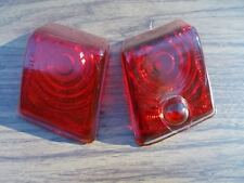 41 1941 42 1942 Willys Mismatched Pair Red Glass Tail Light Lamp Lenses Vintage