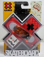 MATTEL 2008 X GAMES FINGER BOARD FINGERBOARD SKATEBOARD EUROPEAN NEW SEALED A